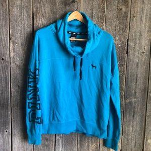 Blue VS PINK cowl neck sweatshirt medium